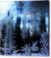 Frigid Blue Morning Canvas Print