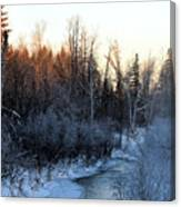 Frigid Sunrise Canvas Print