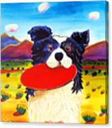 Frisbee Dog Canvas Print