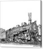 Steam Driven Locomotive Canvas Print