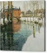 Frits Thaulow    A Chateau In Normandy Canvas Print