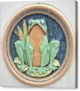 Frog Ceramic Plaque Canvas Print