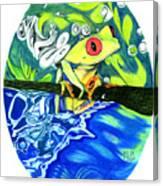 Froggy Canvas Print