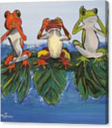 Frogs Without Sense Canvas Print