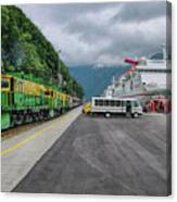 From Ship To Train Canvas Print