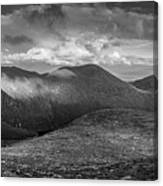 From Slieve Bearnagh Panorama To The South Canvas Print