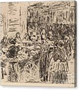 From The Jewish Quarter In Amsterdam: Fishmarket On The Street Corner Canvas Print