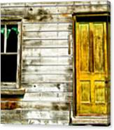 Front Door To An Old Abandoned House. Canvas Print
