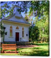 Front Of A Small Church Canvas Print
