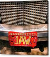 Front Of The Car - Grill And Plate Canvas Print