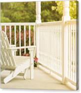 Front Porch In Summer Canvas Print