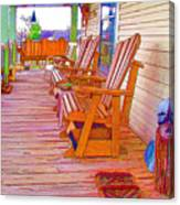 Front Porch On An Old Country House  1 Canvas Print