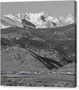 Front Range View North Boulder Colorado Canvas Print