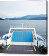 Front Side Of A Ferry  Canvas Print