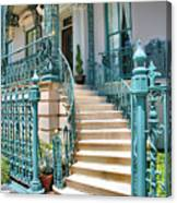 Front Steps To John Rutledge Home Canvas Print