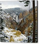 Frosted Canyon Canvas Print