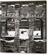 Frosted Colosseum In Rome Canvas Print