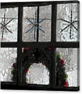 Frosted Windowpanes Canvas Print