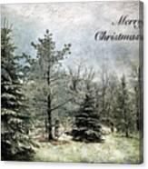 Frosty Christmas Card Canvas Print