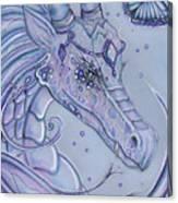 Frosty Dragon Canvas Print
