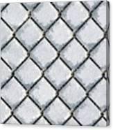 Frosty Fence Canvas Print