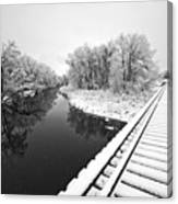 Frosty Morning On The Poudre Canvas Print