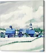 Frozen Aqua Canvas Print
