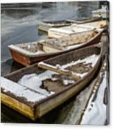 Frozen Boats Canvas Print