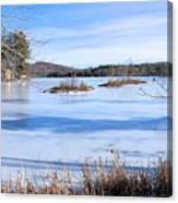 Frozen Bryant Pond Canvas Print
