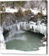 Frozen Cave Point Canvas Print