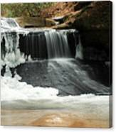 Frozen Creation Falls Canvas Print