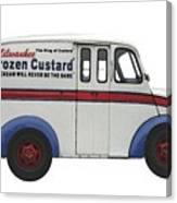 Frozen Custard On Wheels Canvas Print