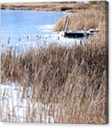 Frozen Dock Canvas Print