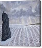 Frozen Field Megalith Canvas Print