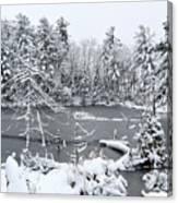 Frozen Lake 3 Canvas Print