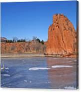 Frozen Lake Front Canvas Print