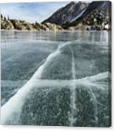 Frozen Lake In The High Sierra Canvas Print