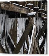 Frozen Leaks Canvas Print