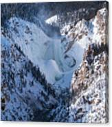 Frozen Lower Falls Canvas Print