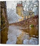 Frozen Moat At Fonthill Canvas Print
