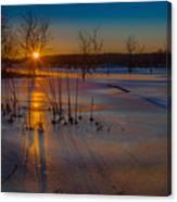 Frozen New Year Canvas Print