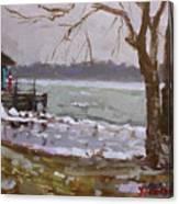 Frozen Niagara River Canvas Print