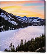 Frozen Reflections At Echo Lake Canvas Print