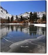 Frozen Sierra Lake Canvas Print