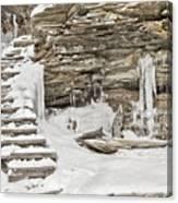 Frozen Stairs Canvas Print