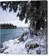 Frozen View Of Ellingson Island Canvas Print