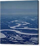 Frozen Yukon River - Alaska  Canvas Print