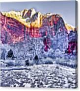 Frozen Zion Canvas Print