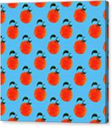 Fruit 01_orange_pattern Canvas Print
