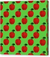 Fruit 02_apple_pattern Canvas Print